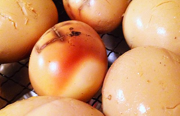 卵の燻製 燻製後