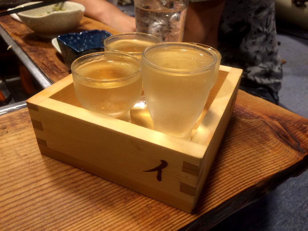 赤門屋の日本酒飲み比べセット