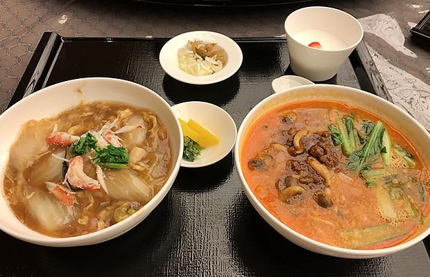 海鮮中華丼と担々麺のセット