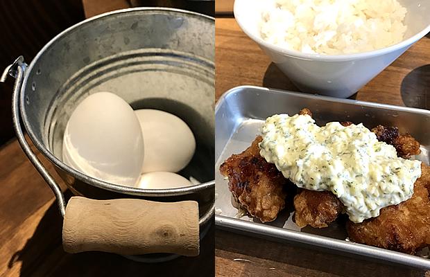 卵とチキン南蛮
