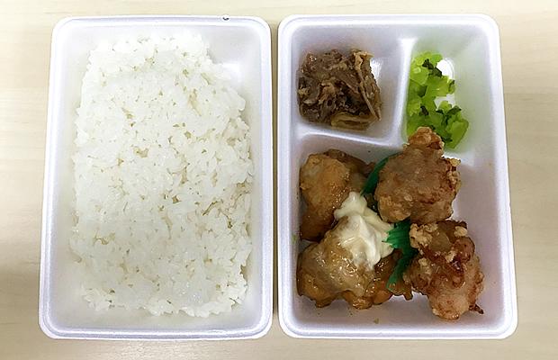 唐揚げ&チキン南蛮のハーフ弁当
