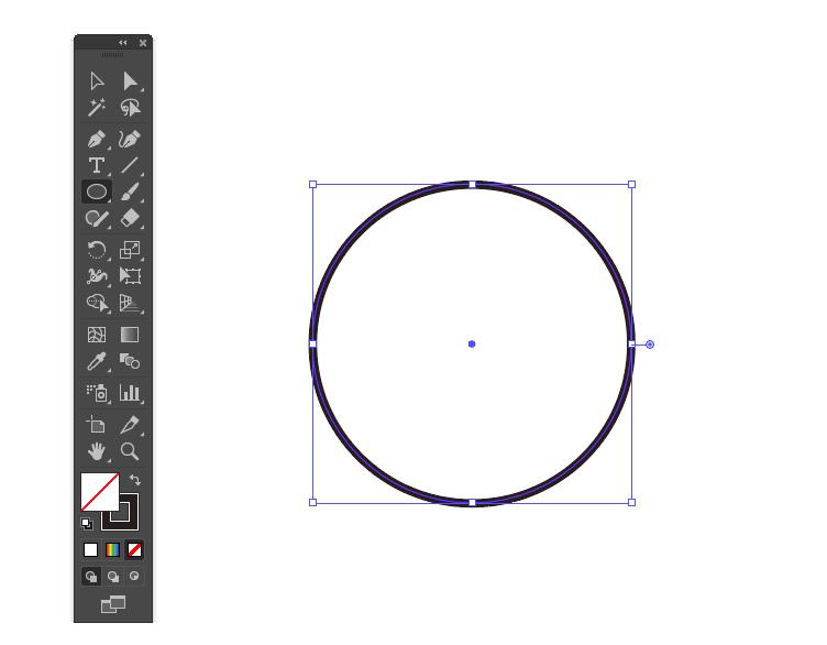 正円を描く