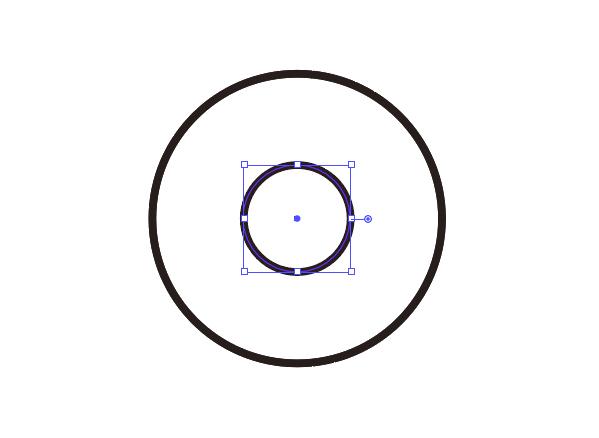 もう1個円を描く