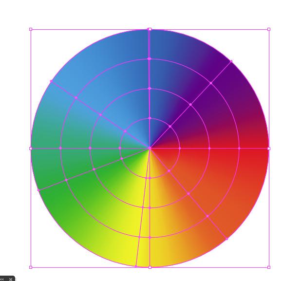虹のアウトライン化