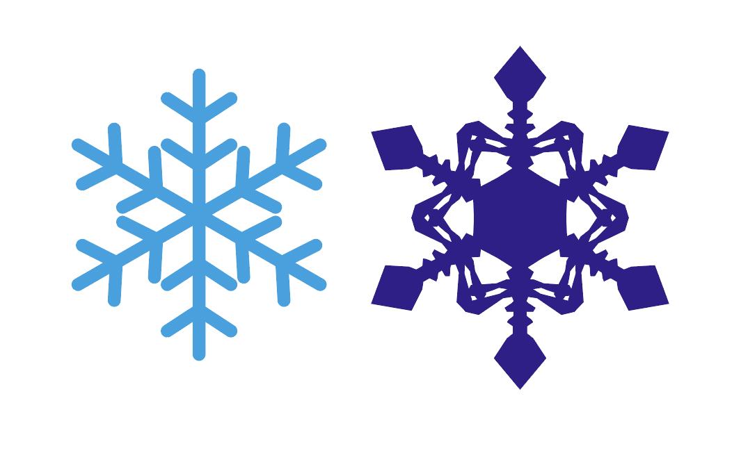 雪の結晶完成図
