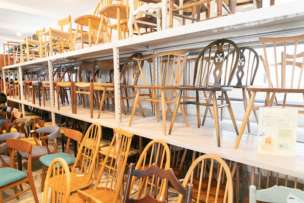 ハミングジョー店内椅子のコーナー